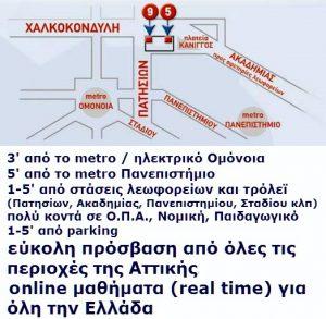 Ευρωδιάσταση Αθήνα Χάρτης